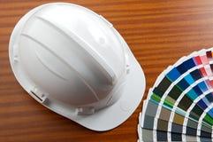 Helm en kar van kleuren stock afbeelding