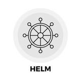 Helm Line Icon Stock Photo