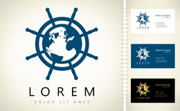 Helm logo. Design vector illustration Royalty Free Stock Photos