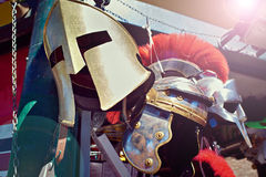 Helm of Roman Gladiator`s Warrior. Helm of the Roman Gladiator`s Warrior Royalty Free Stock Image