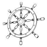 Helm Steering Wheel Vector 02 Royalty Free Stock Photo
