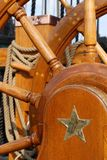 Helm of USS Constitution. Ship's wheel aboard the USS Constitution Royalty Free Stock Photography