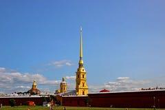 Helm von Peter und von Paul Fortress im St. Petersburg Lizenzfreies Stockfoto