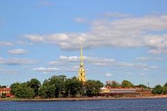 Helm von Peter und von Paul Fortress im St. Petersburg Stockfotografie