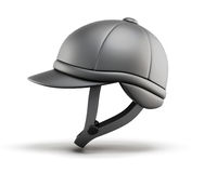 Helm voor paardrijden Zachte nadruk 3d geef image Stock Illustratie