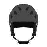 Helm voor ski, het snowboarding, extreme sporten, fiets in vlakke stijl Royalty-vrije Stock Afbeelding