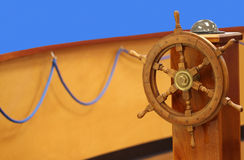 Helm wheel and compass Stock Images