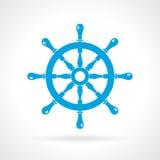 Helm wheel vector icon Stock Image