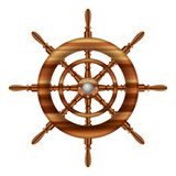 Helm wheel. On white background Royalty Free Stock Photos
