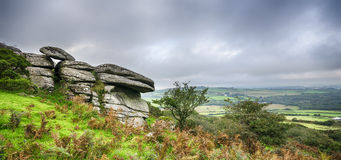 Helman Tor in Cornwall. Autumn at Helman Tor in Cornwall, a nature reserve on the moors 2 miles south of Bodmin Stock Photography