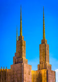 Helme des Washington DC-mormonischen Tempels, in Kensington, Maryla Lizenzfreies Stockfoto
