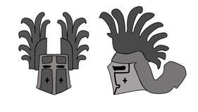 Helmet. Illustration of ancient helmet vector illustration