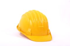 Helmet 2. Isolated yellow protetctive helmet for work Stock Photography