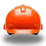 Helmet. Orange construction helmet on white background Royalty Free Stock Photos