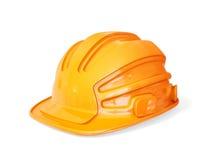 Helmet. Orange helmet for builder isolated on a white Royalty Free Stock Photo