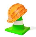 Helmet. Orange helmet for builder isolated on a white Stock Images