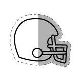 Helmet american football cut line Stock Images