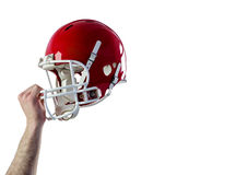 Helmet of  an american football player Royalty Free Stock Photos
