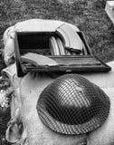 Helmet and ammunition Stock Image
