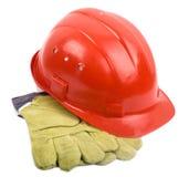 Helmet And Mitten Royalty Free Stock Photos