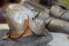 Helmet and armor medieval Royalty Free Stock Image