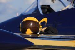 Helmet, aviation, aerobatic Stock Photo