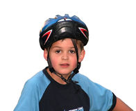 Helmet backwards Stock Photo