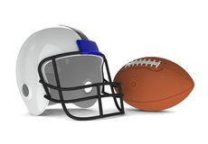 Helmet and ball Stock Image
