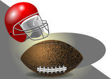 Helmet and ball Stock Photography