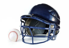Helmet and Baseball Royalty Free Stock Photo