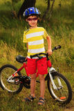 Helmet and bicycle Royalty Free Stock Photography