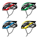 Helmet bicycle. Vector and Illustration Royalty Free Stock Photography