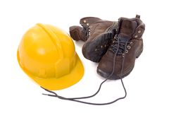 Helmet and boots_01 Royalty Free Stock Photo
