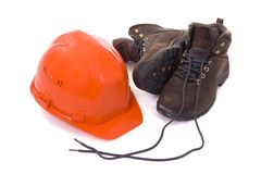 Helmet and boots_02 Stock Images