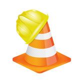 Helmet for builder worker illustration Royalty Free Stock Photos