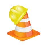 Helmet for builder worker illustration. Design over white Royalty Free Stock Photos