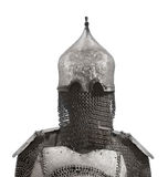 Helmet and chain mail armor isolated. Royalty Free Stock Photos