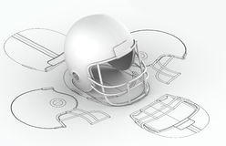 Helmet charts with 3d model. On top Stock Images