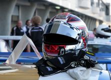 Helmet of Clemens Schmid the winner Stock Images