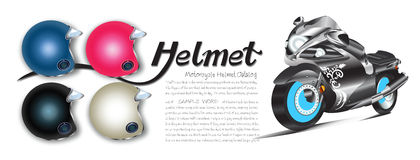 Helmet Color Catalog banner and sticker Royalty Free Stock Photography
