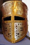 Helmet of the Crusader knight Stock Image