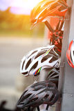 Helmet for cycling Stock Photography