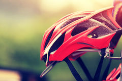 Helmet for cycling Stock Photo
