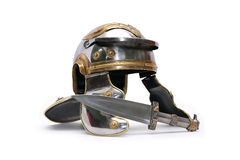 Helmet And Dagger Stock Images