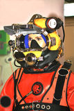 Helmet of diver Stock Image