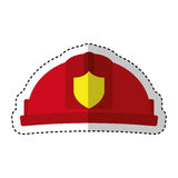 Helmet firefighter isolated icon Royalty Free Stock Images