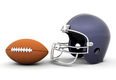 Helmet and football Stock Photos