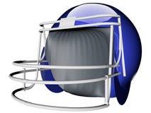 Helmet for football. 3d render of blue helmet for american football Stock Images