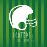 Helmet football. Over green background vector illustration Stock Image