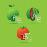 Helmet and fruit Royalty Free Stock Image